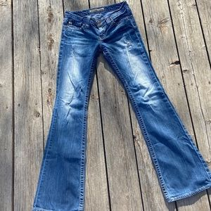 Big Star Flare Sweet Ultra Low Rise Jeans